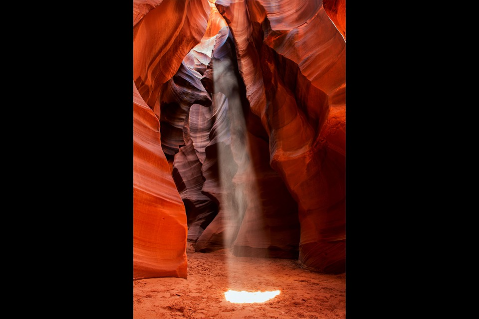 Center Stage Antelope Canyon by Michael Malandra