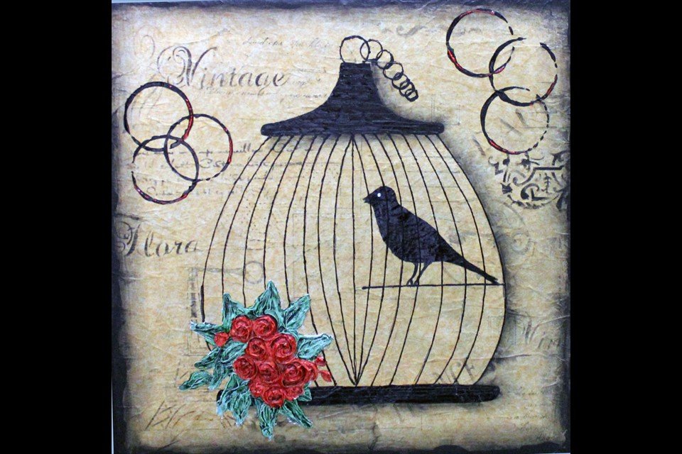Vintage Birdcage by Catherine Monto